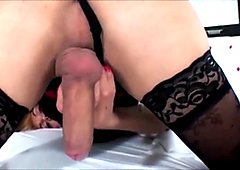 Beautiful Blonde TS  Masturbating